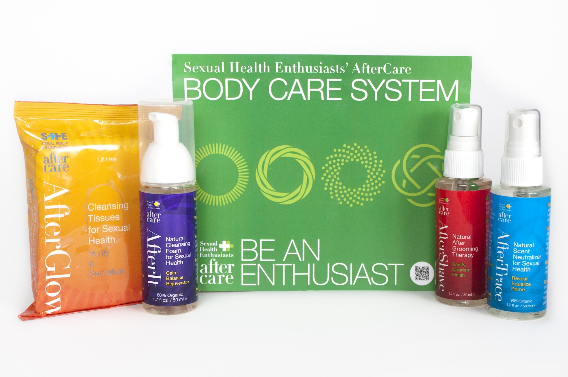 Sexual Health Enthusiasts AfterCare Body Care Travel Set